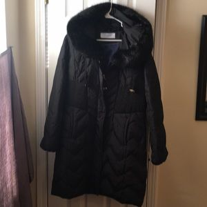 T by Tahari Down Puffer Jacket 3/4 length size L